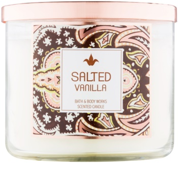 Bath & Body Works Salted Vanilla vela perfumada  411 g