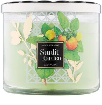 Bath & Body Works Sunlit Garden vela perfumado 411 g