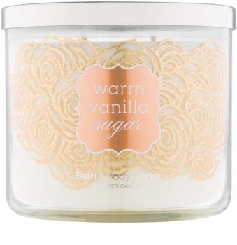 Bath & Body Works Warm Vanilla Sugar ароматна свещ  411 гр.
