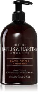 Baylis & Harding Black Pepper & Ginseng flüssige Seife für die Hände