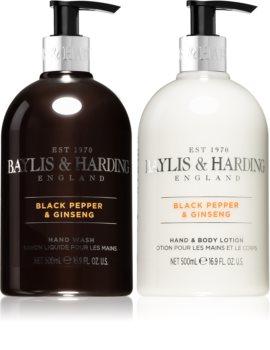 Baylis & Harding Black Pepper & Ginseng cosmetic set for a moisturised body