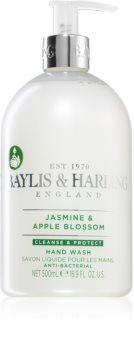 Baylis & Harding Jasmine & Apple Blossom oczyszczające mydło do rąk w płynie ze środkiem antybakteryjnym