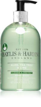 Baylis & Harding Aloe, Tea Tree & Lime flüssige Seife für die Hände mit antibakteriellem Zusatz