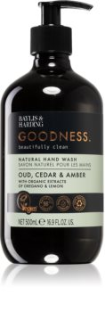 Baylis & Harding Goodness Oud, Cedar & Amber prirodni tekući sapun za ruke