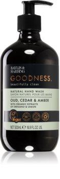 Baylis & Harding Goodness Oud, Cedar & Amber přírodní tekuté mýdlo na ruce