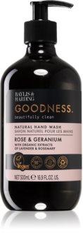 Baylis & Harding Goodness Rose & Geranium savon liquide naturel mains