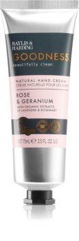 Baylis & Harding Goodness Rose & Geranium crème naturelle mains
