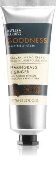 Baylis & Harding Goodness Lemongrass & Ginger natürliche Creme für die Hände