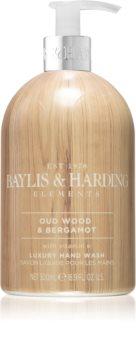 Baylis & Harding Elements Oud Wood & Bergamot flüssige Seife für die Hände