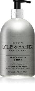 Baylis & Harding Elements Fresh Lemon & Mint flüssige Seife für die Hände