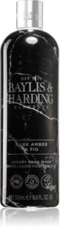 Baylis & Harding Elements Dark Amber & Fig gel de banho de luxo