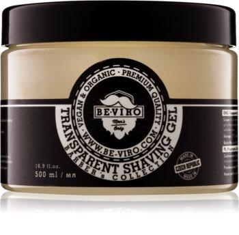 Beviro Men's Only Transparent Shaving Gel gel trasparente per rasatura