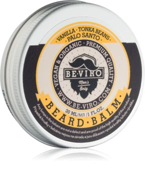 Beviro Men's Only Vanilla, Tonka Beans, Palo Santo Beard Balm