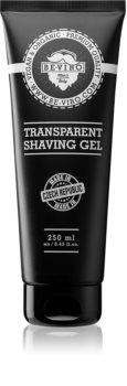 Beviro Men's Only Transparent Shaving Gel gel per rasatura in tubetto