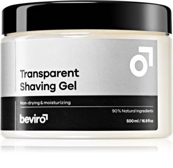 Beviro Transparent Shaving Gel gel pentru bărbierit pentru barbati