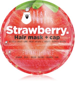 Bear Fruits Strawberry Hair Mask for Shiny and Soft Hair