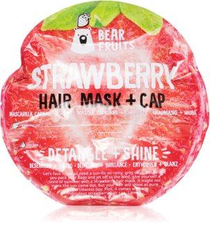 Bear Fruits Strawberry маска для волос для придания блеска и мягкости волосам