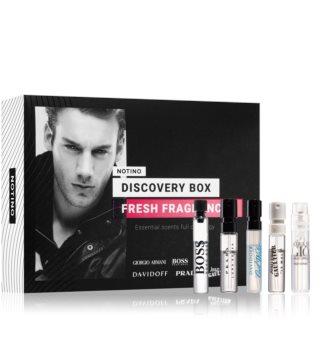 Notino Discovery Box Fresh fragrances men ajándékszett uraknak