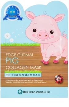 Belleza Castillo Edge Cutimal Pig arcmaszk kollagénnel