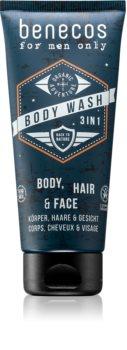 Benecos For Men Only 3 en 1 : shampoing, après-shampoing et gel douche