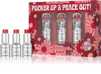 Benefit Pucker Up & Peace Out! Lip Balm Trio Lippenset