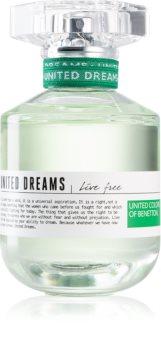 Benetton United Dreams for her Live Free Eau de Toilette voor Vrouwen