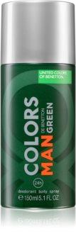 Benetton Colors de Benetton Man Green Deodorant Spray für Herren