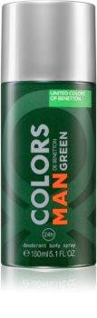 Benetton Colors de Benetton Man Green deodorant ve spreji pro muže
