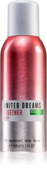 Benetton United Dreams for her Together deodorant ve spreji pro ženy