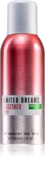 Benetton United Dreams for her Together spray dezodor hölgyeknek