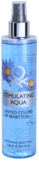 Benetton Stimulating Aqua spray de corpo para mulheres 250 ml