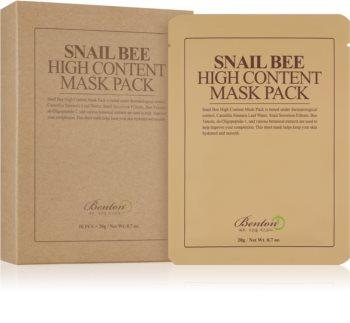 Benton Snail Bee maska iz platna za kompleksno nego s polžjim ekstraktom
