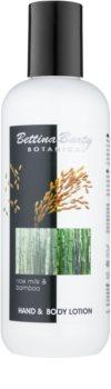 Bettina Barty Botanical Rice Milk & Bamboo loção corporal e para mãos com efeito hidratante