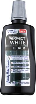 Beverly Hills Formula Perfect White Black bělicí ústní voda s aktivním uhlím pro svěží dech