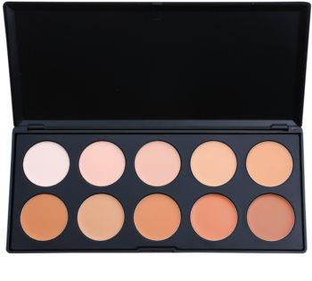 BH Cosmetics 10 Color paleta de correctores y bases de maquillaje