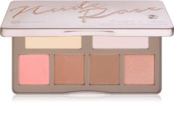 BH Cosmetics Nude Rose Sculpt & Glow Konturier-Palette für die Wangen