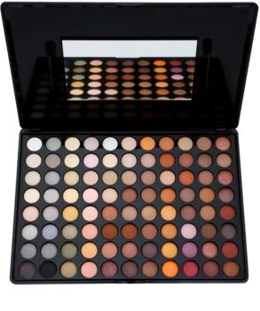BH Cosmetics 88 Color Neutral paleta de sombras  com espelho pequeno