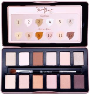 BH Cosmetics BHcosmetics Nude Rose paleta očních stínů s aplikátorem