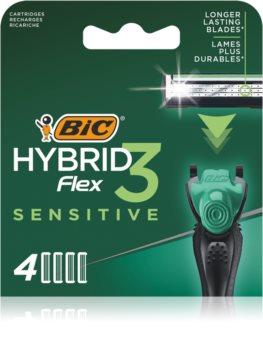 BIC FLEX3 Hybrid Sensitive recambios de cuchillas 4 uds
