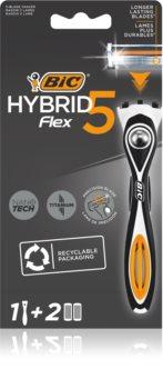 BIC FLEX5 Hybrid бритвенный станок + 2 запасные головки