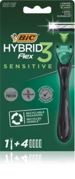 BIC FLEX3 Hybrid Sensitive бритвенный станок + 2 запасные головки