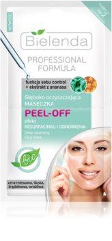 Bielenda Professional Formula Peel-off Gelgesichtsmaske zur Porenverfeinerung und für ein mattes Aussehen der Haut