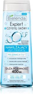 Bielenda Expert Pure Skin Moisturizing мицеларна почистваща вода 3 в 1