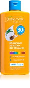 Bielenda Bikini Coconut hidratantno mlijeko za sunčanje SPF 30