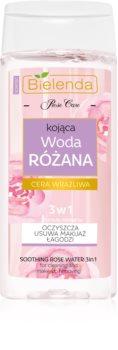 Bielenda Rose Care água de rosas calmante para limpeza 3 em 1