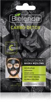 Bielenda Carbo Detox Active Carbon čistilna maska z aktivnim ogljem za mastno in mešano kožo