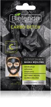 Bielenda Carbo Detox Active Carbon почистваща маска с активни бъглища за смесена и мазна кожа