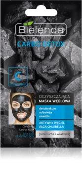 Bielenda Carbo Detox Active Carbon reinigende Maske mit Aktivkohle für trockene bis empfindliche Haut