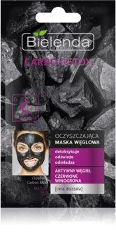 Bielenda Carbo Detox Active Carbon maschera detergente al carbone attivo per pelli mature