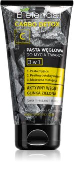 Bielenda Carbo Detox Active Carbon 3-in-1 Cleansing Paste with Activated Charcoal